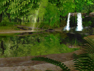 Spring Waterfall 3D Screensaver screenshot